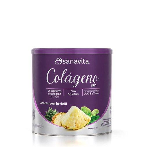 Colágeno Hidrolisado Sabor Abacaxi com Hortelã Sanavita 300g