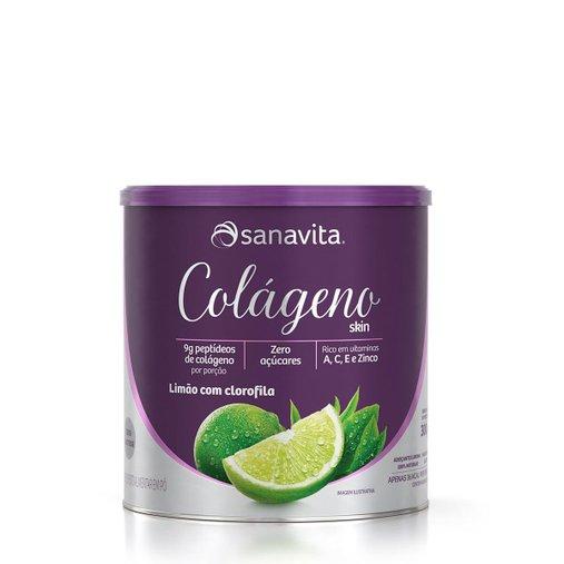 Colágeno Hidrolisado sabor Limão e Clorofila Sanavita 300g