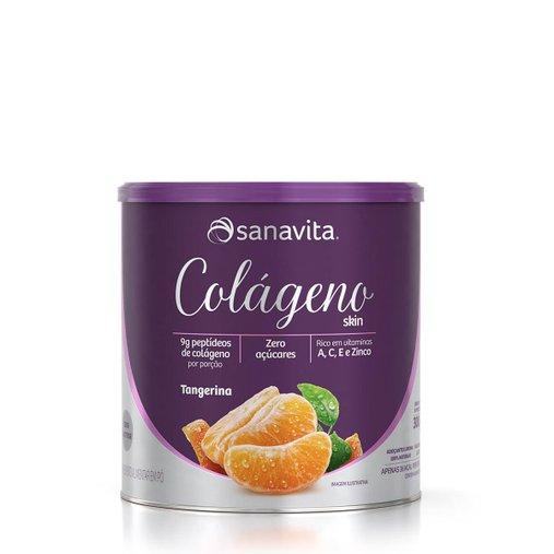 Colágeno Hidrolisado sabor Tangerina Sanavita 300g