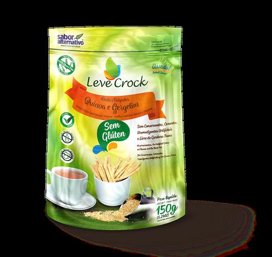 Palitos Salgados de Quinoa e Gergelim Sem Glúten Leve Crock 150g