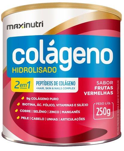 Colágeno Hidrolisado 2 em 1 Frutas Vermelhas Maxinutri 250g