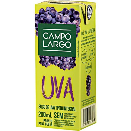 Suco de Uva Integral Campo Largo 200mL