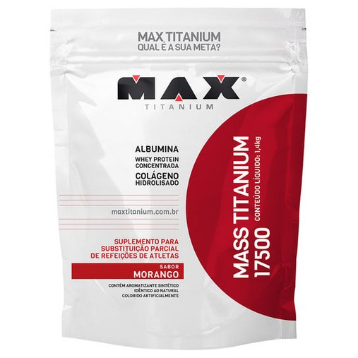 Mass Titanium 17500 Morango Max Titanium 1,4Kg