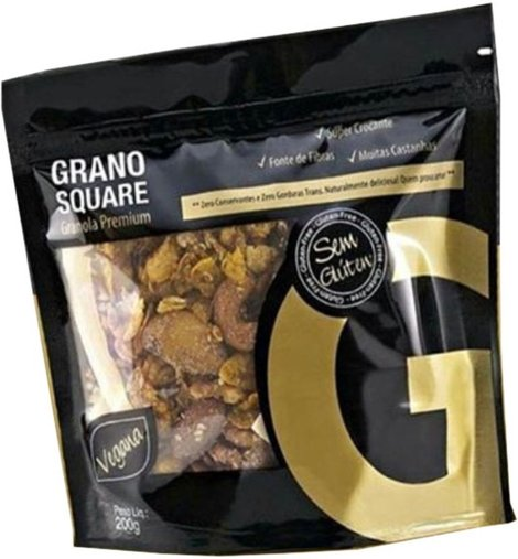 Granola Premium Sem Glúten Vegana Grano Square 200g