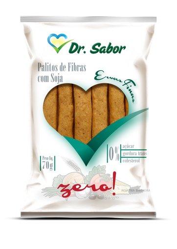 Biscoito Palito de Fibras Sabor Ervas Finas Dr Sabor 70g
