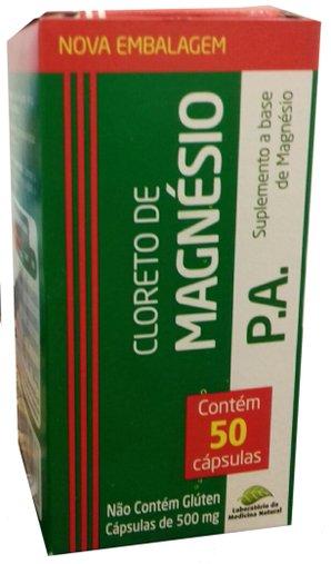 Cloreto de Magnésio Medinal 500 mg 50 Cápsulas