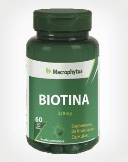 Biotina Macrophytus 250mg 60 Cápsulas