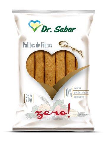 Biscoito Palito de Fibras Sabor Gergelim Dr Sabor 70g