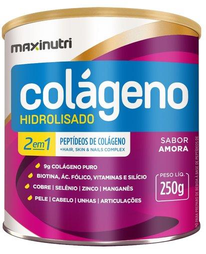 Colágeno Hidrolisado 2 em 1  Amora Maxinutri 250g