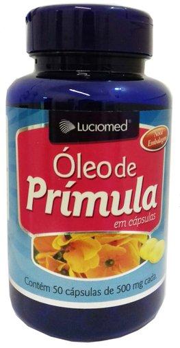 Óleo de Prímula Luciomed 500mg 50 Cápsulas