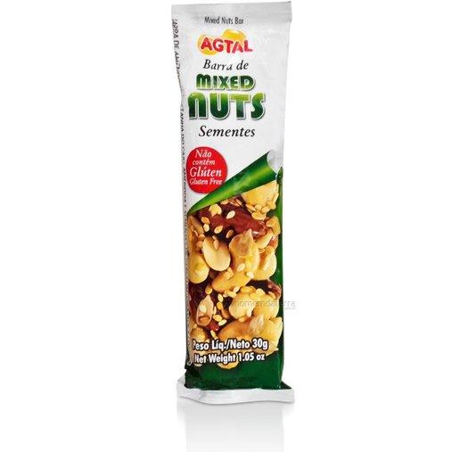 Barra Mixed Nuts Sementes Agtal 30g - 7896261402614