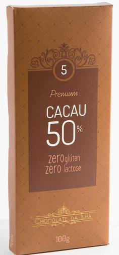 Barra de Chocolate 50% Sem Glúten Sem Lactose Chocolate da Ilha 100g