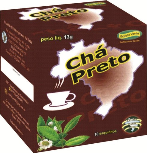 Chá Preto Extrato Verde 10 Sachês