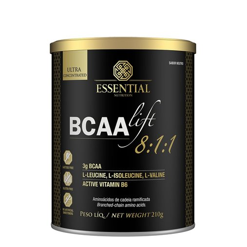 BCAA Lift 8:1:1 Sabor Neutro Essential Nutrition 210g