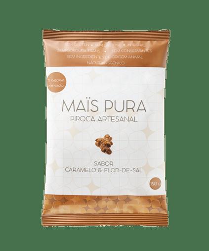 Pipoca Artesanal Mais Pura sabor Caramelo e Flor de Sal 150g