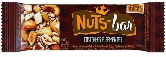 Barra Nuts Bar Castanhas e Sementes Zero Açúcar Banana Brasil 25g