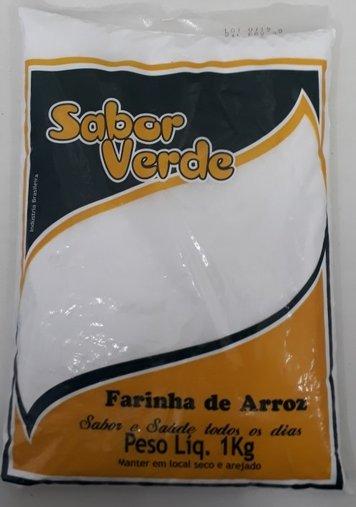 Farinha de Arroz Sabor Verde 1kg