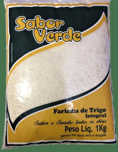 Farinha de Trigo Integral Sabor Verde 1kg