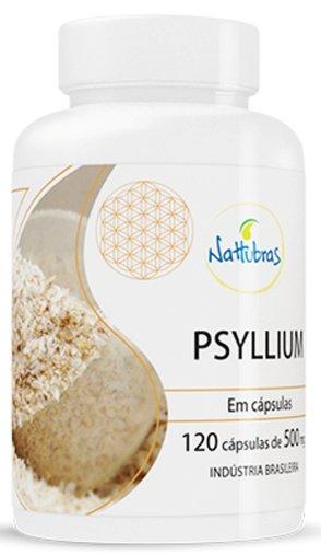 Psyllium 500mg Nattubras 120 Cápsulas