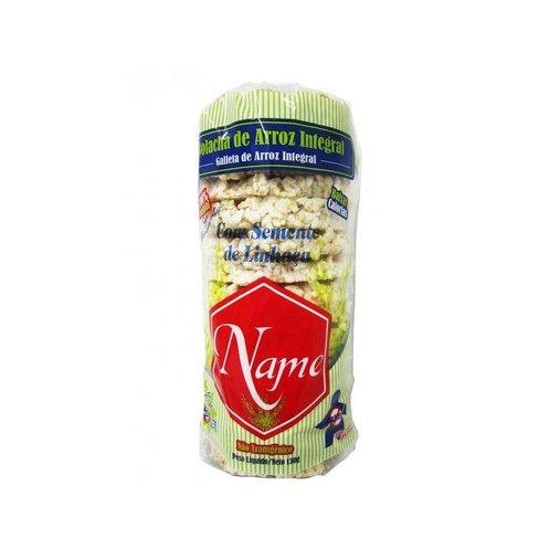 Bolacha de arroz Integral com Linhaça Name 130g