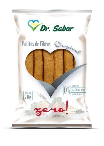 Biscoito Palito de Fibras Sabor Original  Dr Sabor 70g