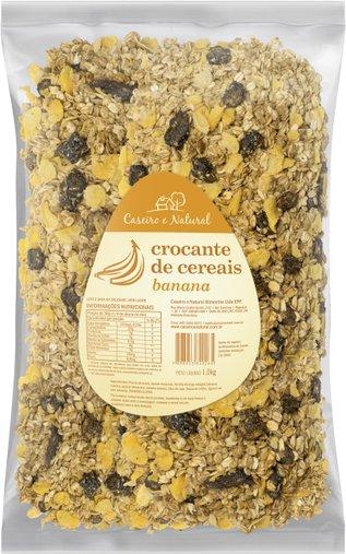 Granola Crocante de Cereais Banana Caseiro e Natural 1Kg
