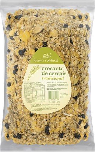 Granola Crocante de Cereais Tradiocional com Mel Caseiro e Natural 1Kg