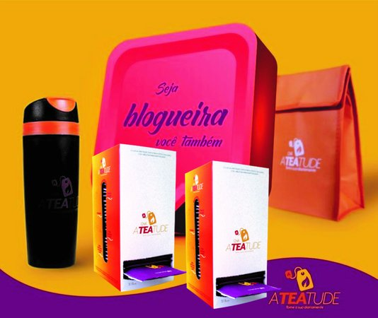 Kit Blogueira: 1 Bolsa + 1 Copo + 2 caixas Ateatude
