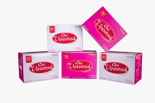 Kit com 5 Caixas de Chá Universal Tradicional Extrato Verde Brasil 20 Saches 30g
