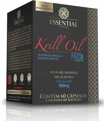 Krill Oil Super Ômega 3 500mg Essential Nutrition 60 Cápsulas