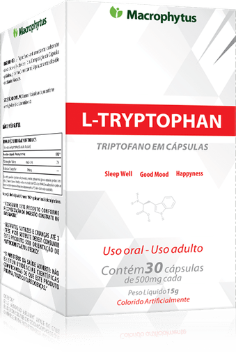 L-Tryptophan Triptofano Macrophytus 500mg 30 Cápsulas