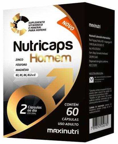 Nutricaps Homem Maxinutri 840 mg 60 Cápsulas