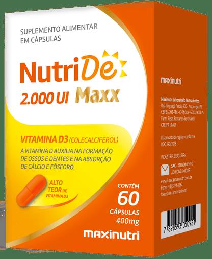 NutriDe 2000 UI Maxx Maxinutri 60 Cápsulas 400mg
