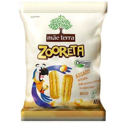 Salgadinho Orgânico Zooreta Sabor Milho Mãe Terra 45g