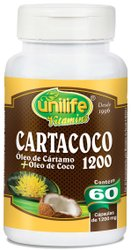 Cartacoco - Óleo de Cártamo com Óleo de Coco 1200mg Unilife 60 Cápsulas