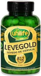 Levegold Levedo de Cerveja com Vitamina B12 450mg Unilife 450 Comprimidos