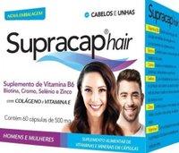 Supracap Hair 500mg - Kit Suplemento de Vitamina B6, Biotina, Cromo, Selênio e Zinco - Luciomed 60 Cápsulas